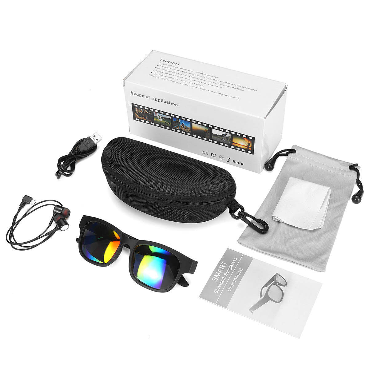 MyBuddy™ Polarized Sunglasses with Bluetooth, Call Function, Mic, and Waterproof IPX7