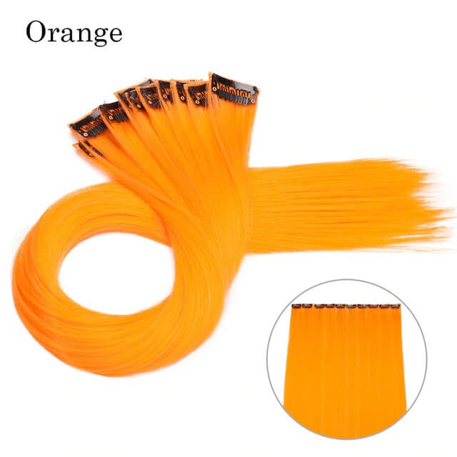Orange LuxDiva™ 20 inches Hair Extension with Highlight
