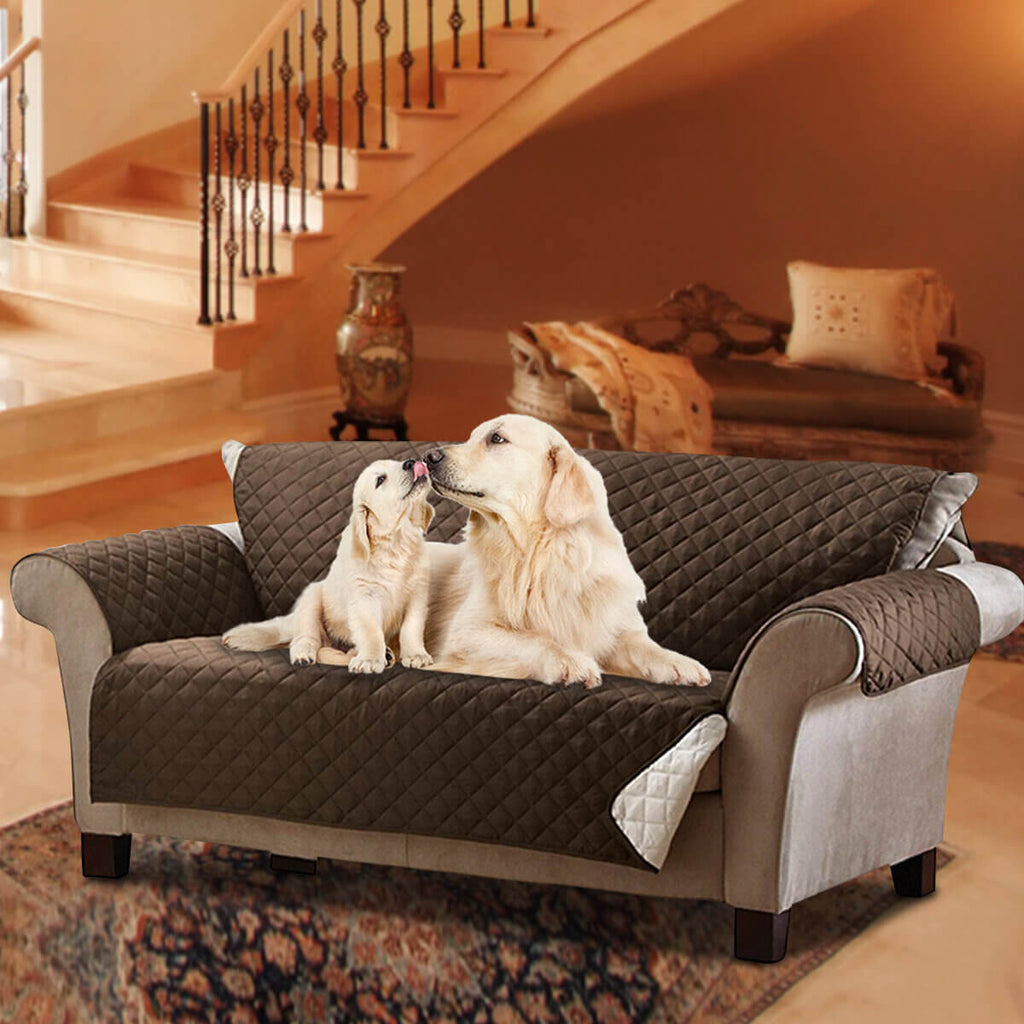 PetsBrand™ Pets Quilted Sofa Covers with Anti-Slip and Waterproof Slipcover