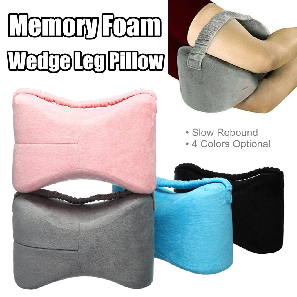 RelaxGel Memory Foam Pillow Wedge Cushion for Knee, Leg, & Hip Support