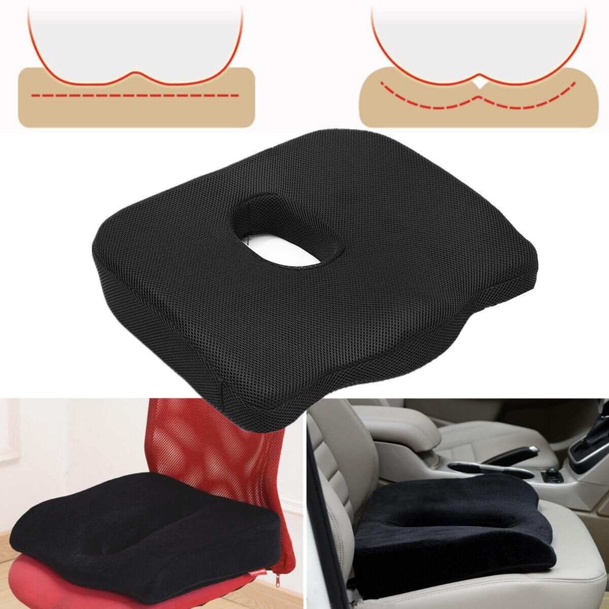 RelaxGel™ Coccyx Seat Cushion with Memory Foam for Car & Office Chair