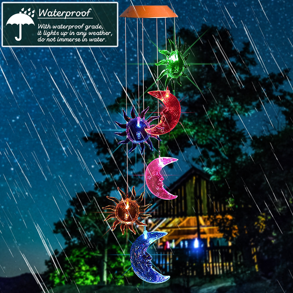 SolarStar™ Outdoor Garden Patio Decor Waterproof Solar Wind Chime Light waterproof