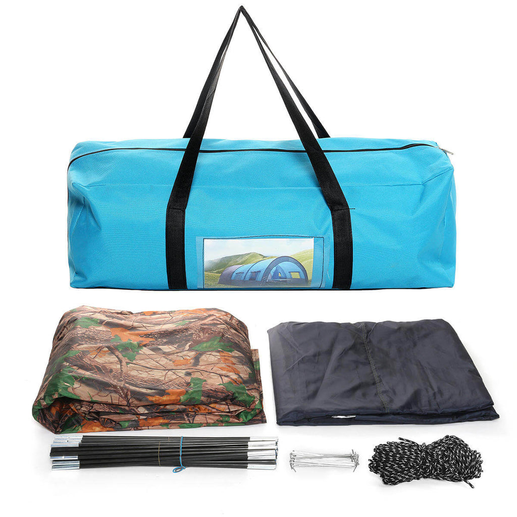 Camouflage TentRus™ Waterproof Camping Tent Kit for Big Family 8 - 10 Person