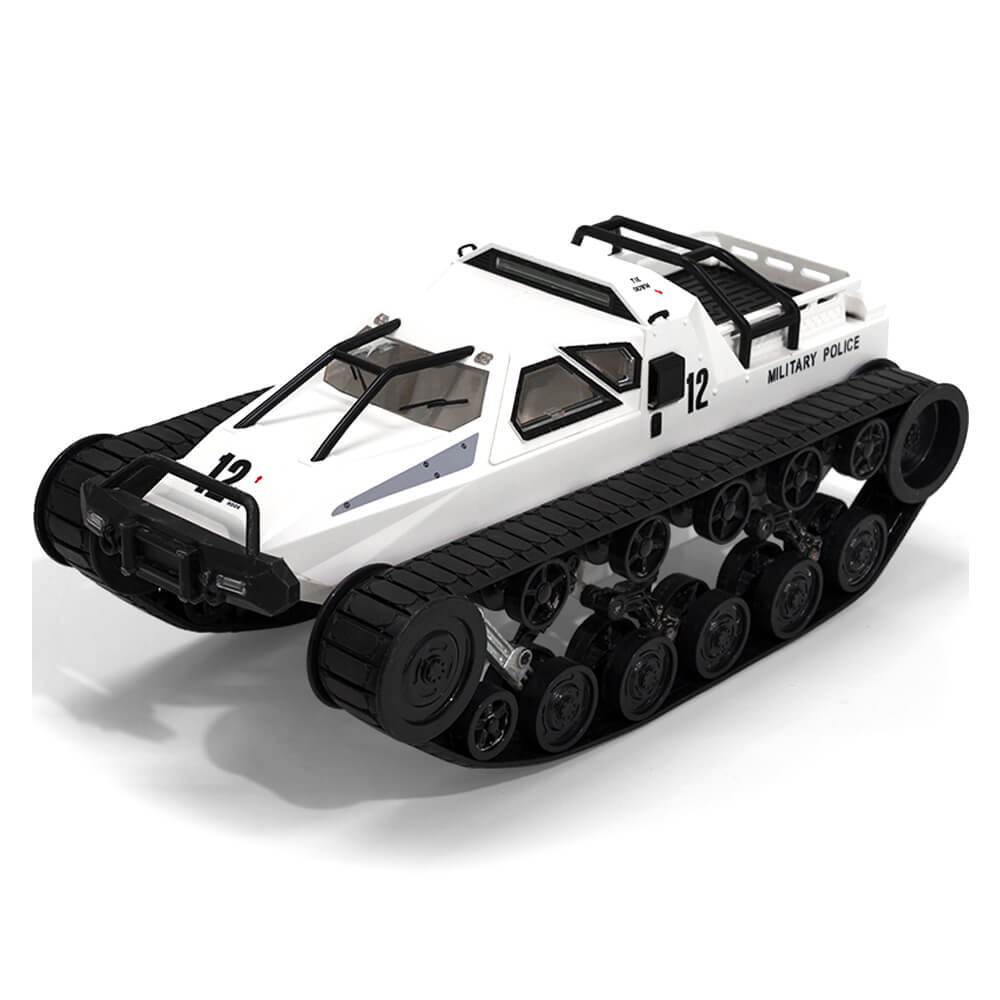 White RcMind™ Remote Control Tank Car