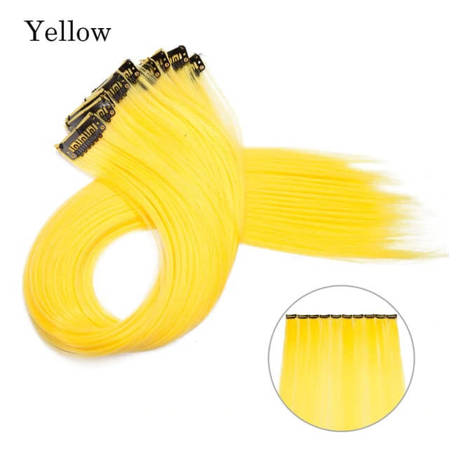 Yellow LuxDiva™ 20 inches Hair Extension with Highlight