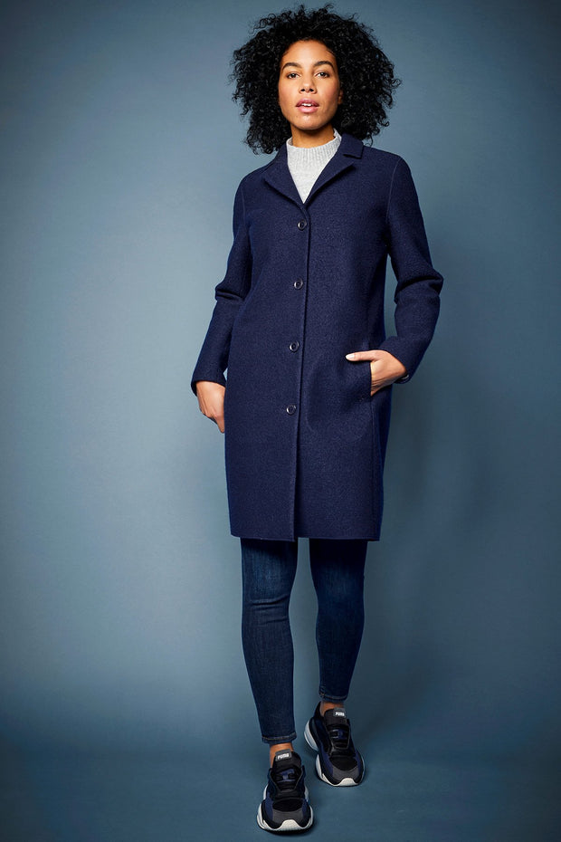 LangerChen Women Coat - Classical (navy)- €299.00 -50%