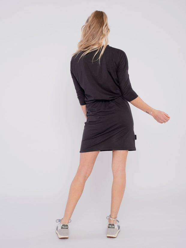 Women Dress Black with waistband - ERDBÄR #Worldchanger