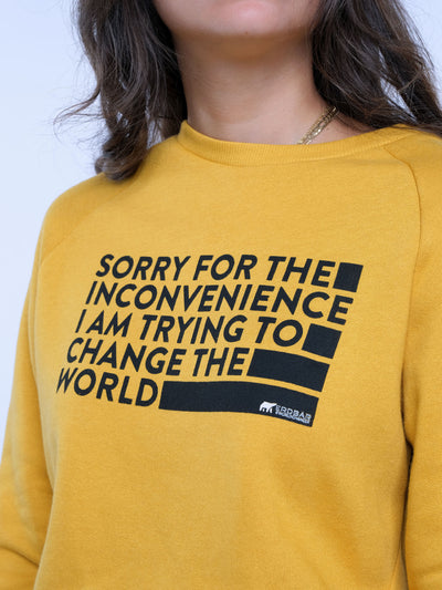 Damen Pullover - Trying to Change the World