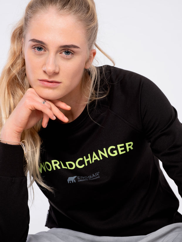 Cozy Women Sweater with ERDBÄR branding - ERDBÄR #Worldchanger