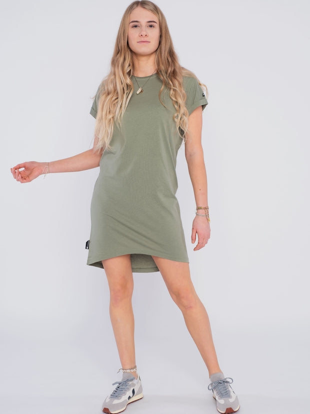 Women Dress green (short sleeves) - ERDBÄR #Worldchanger