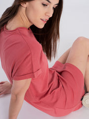 Women Dress red (short sleeves) - ERDBÄR #Worldchanger