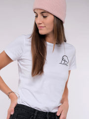 Women T-Shirt (white) - No Change No Snow