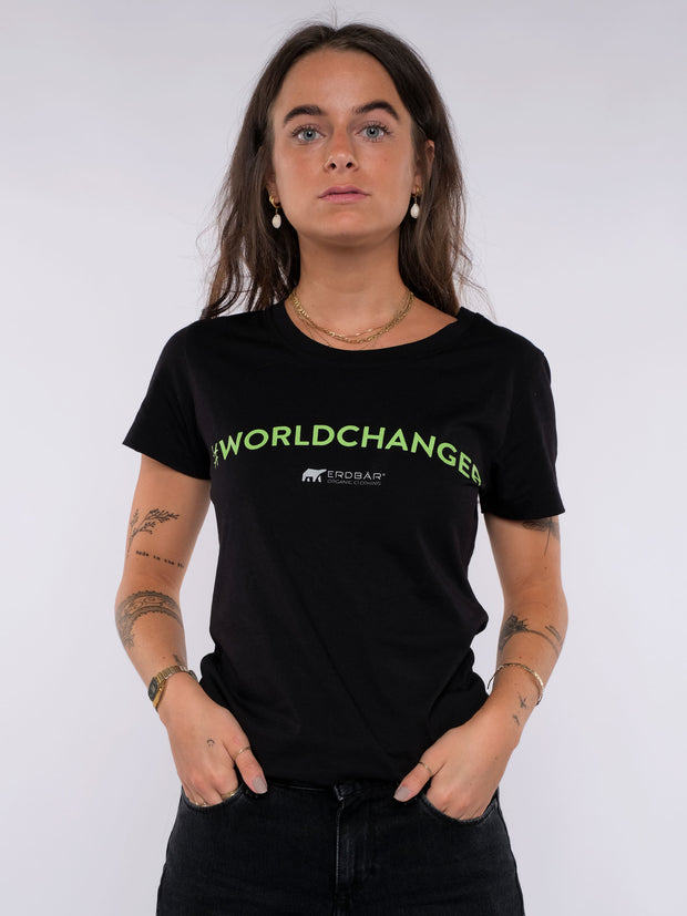 Women T-Shirt - Worldchanger Print