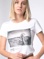 WITH THIS STYLE YOU SUPPORT! - animal revolution 05 / slim-fit Damen T-Shirt (weiß)
