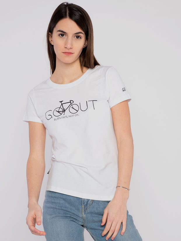 Women T-Shirt (classic) with unique Go-Out print - ERDBÄR #Worldchanger