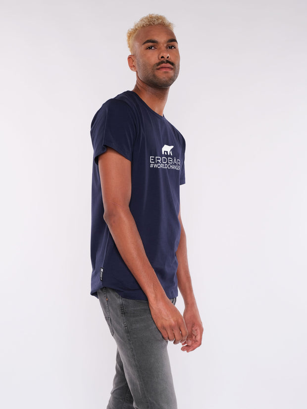 Men T-Shirt (blue) - ERDBÄR Logo