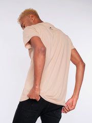 Men T-Shirt (sand) - No Change No Snow