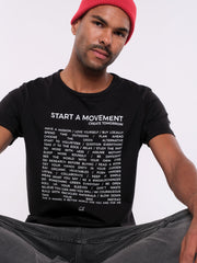Men T-Shirt (black) - Start a Movement