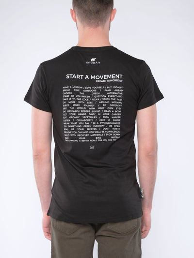 Herren T-Shirt START A MOVEMENT (schwarz)
