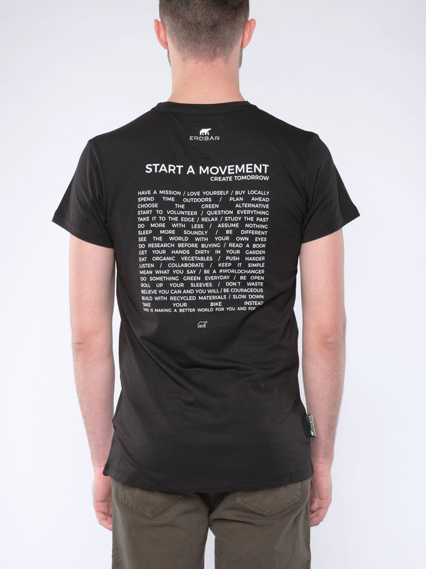 Men T-Shirt START A MOVEMENT (black)