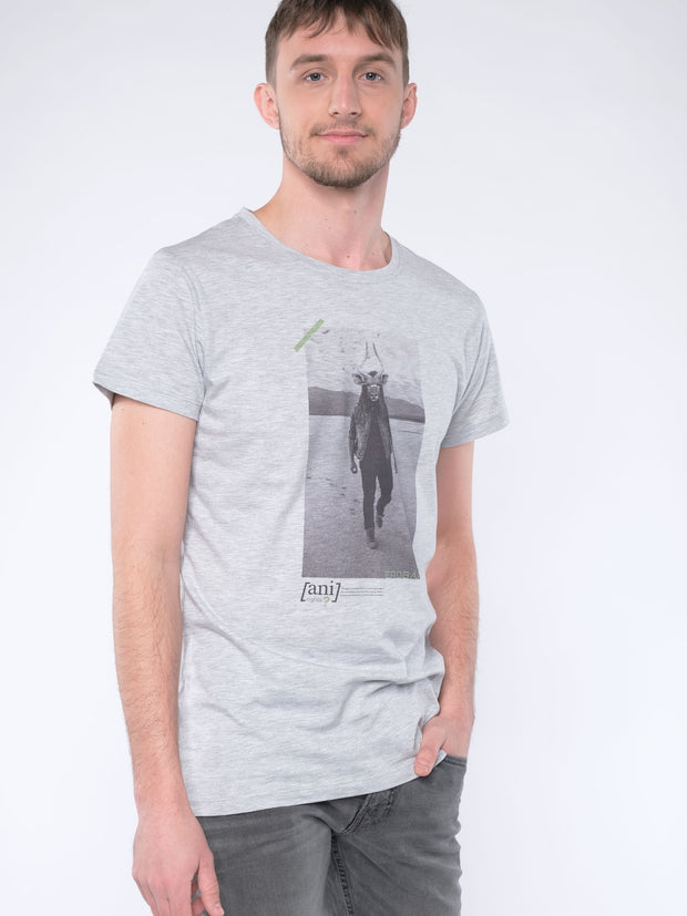 WITH THIS STYLE YOU SUPPORT! - animal revolution 07 / Men T-Shirt (grey)