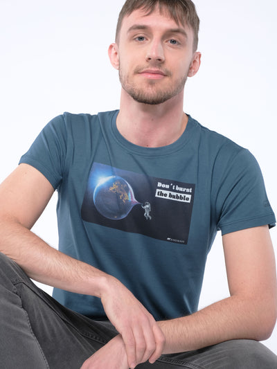 Herren T-Shirt DON'T BURST THE BUBBLE (hydro)