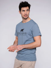 Men T-Shirt blue w/ ERDBÄR Logo - ERDBÄR #Worldchanger