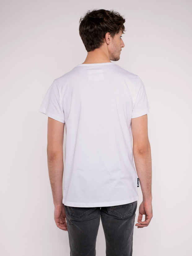 Men T-Shirt white w/ ERDBÄR Logo - ERDBÄR #Worldchanger