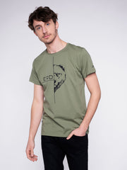 Men T-Shirt organic cotton ERDBÄR print - ERDBÄR #Worldchanger