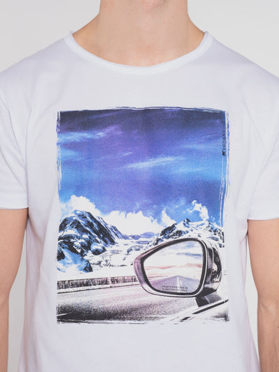 Men T-Shirt ERDBÄR w/ mountain view print - ERDBÄR #Worldchanger