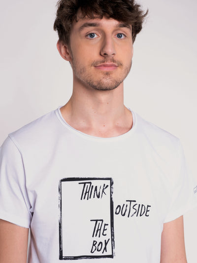 Men T-Shirt ERDBÄR w/ Think outside the Box print - ERDBÄR #Worldchanger