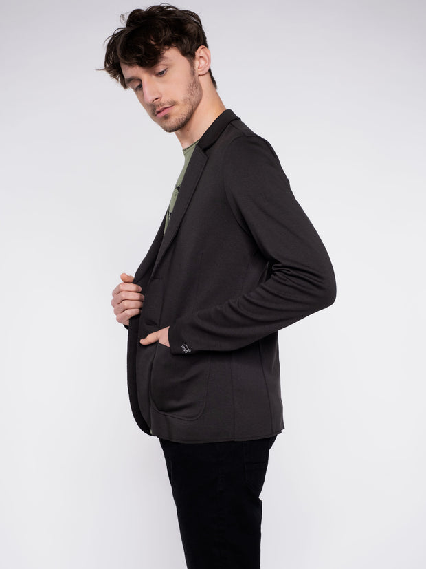 Men Blazer black - ERDBÄR #Worldchanger