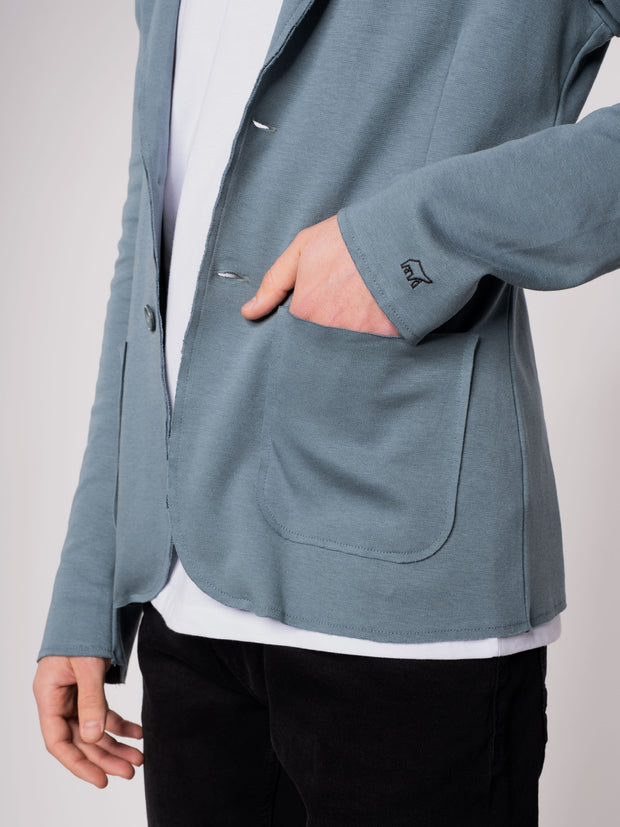 Men Blazer blue - ERDBÄR #Worldchanger
