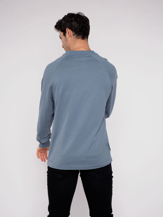 Men Sweater Blue Erdbär Think outside the Box - ERDBÄR #Worldchanger