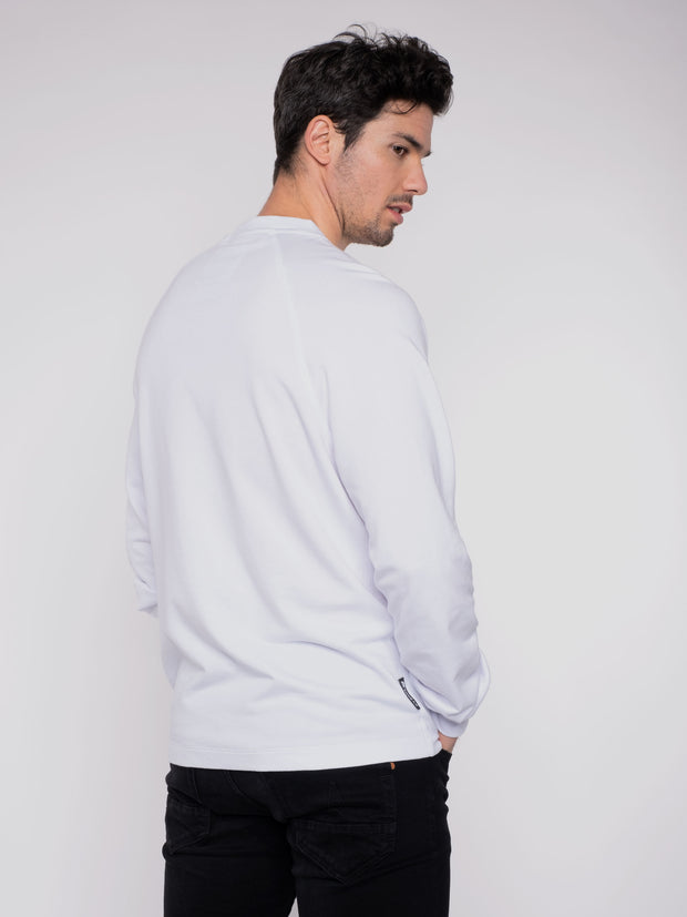 Men Sweater White Erdbär Icecream print - ERDBÄR #Worldchanger