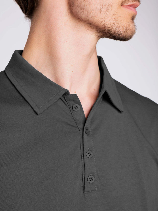 Men Poloshirt pirate Black ERDBÄR - ERDBÄR #Worldchanger