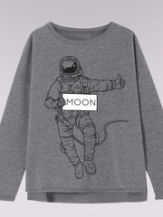 Kids Sweater - Astronaut (grey melange)