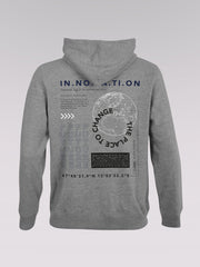 Men Sweater - Moonpower (grey melange)