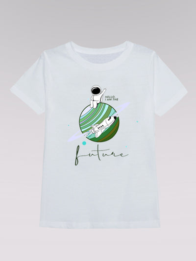 Kids T-Shirt - I Am The Future 02 (white)
