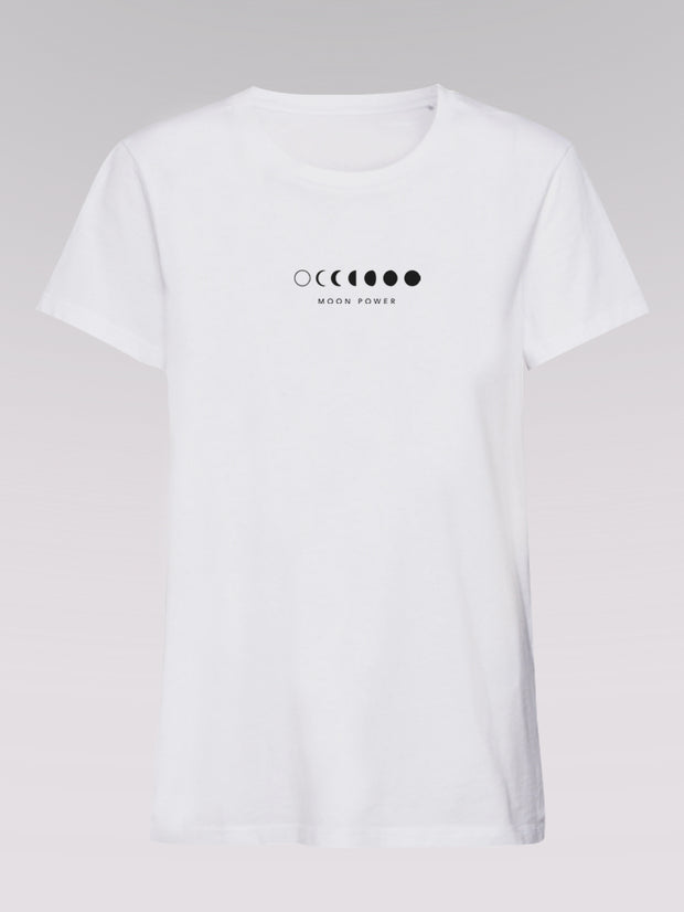 Men T-Shirt - Moonpower (white)
