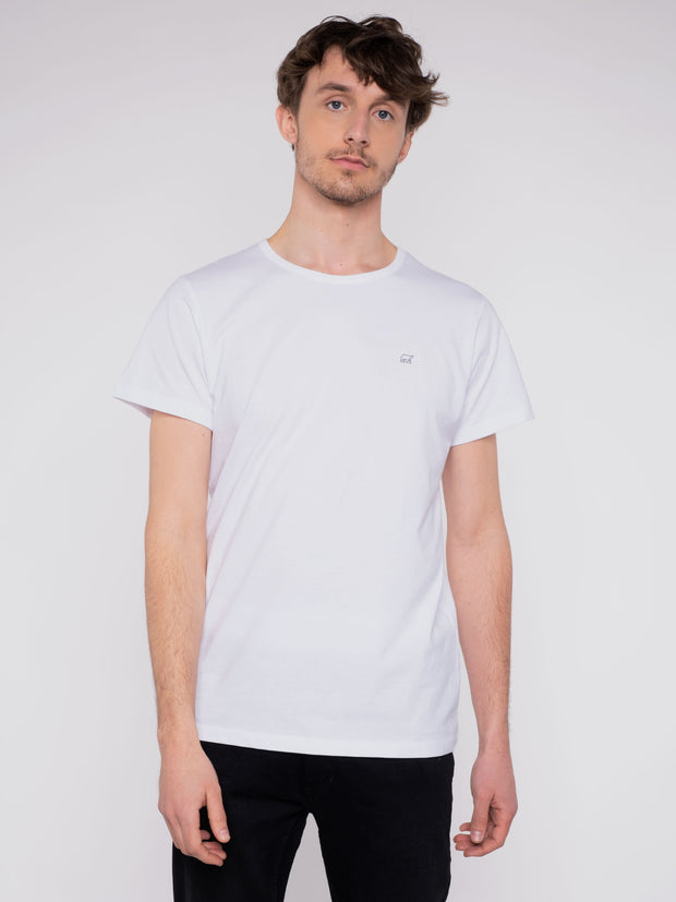 Men T-Shirt white w/ ERDBÄR Logo