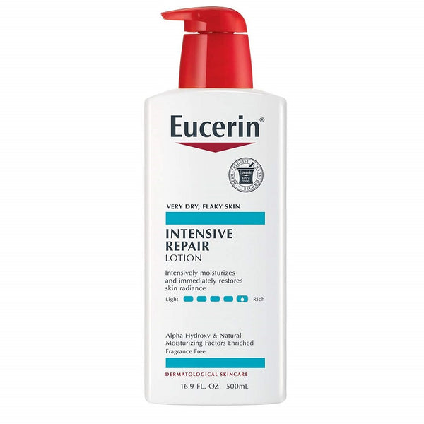 Eucerin Intensive Repair Lotion, Fragrance Free, 16.9 fl oz (500 ml)