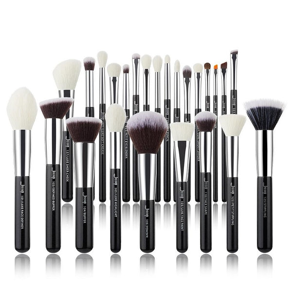 Jessup Professional Makeup Brushes Set  Black/Silver INDIVIDUAL 25Pcs T175