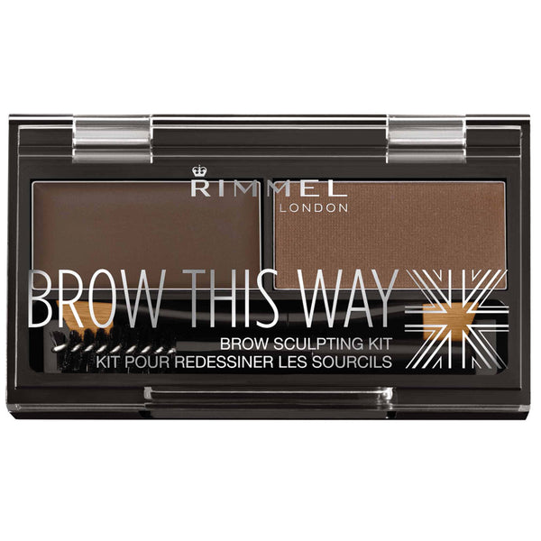 RIMMEL LONDON Brow This Way Eyebrow Sculpting Kit 003 Dark Brown