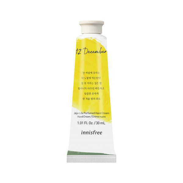 Innisfree Jeju life perfumed hand cream - Yuja tea 30ml