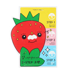 TONYMOLY Runaway Strawberry Seeds 3 Pack Step Nose Pack