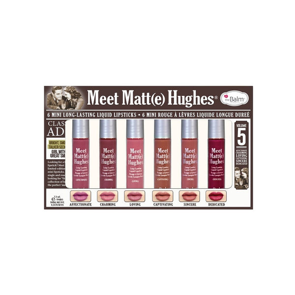 the Balm Meet Matt Hughes 6 Mini Long Lasting Liquid Lipsticks vol 5