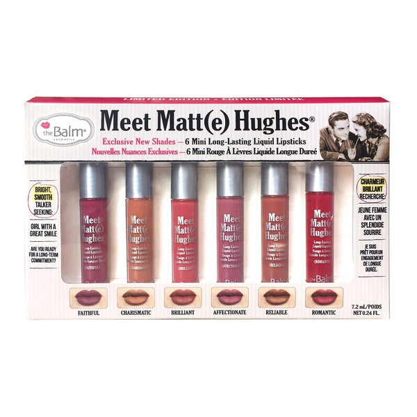 the Balm Meet Matt Hughes 6 Mini Long Lasting Liquid Lipsticks vol 2