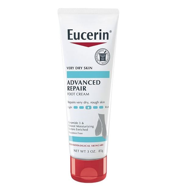Eucerin, Advanced Repair, Light Feel Foot Creme, Fragrance Free, 3 oz (85 g)