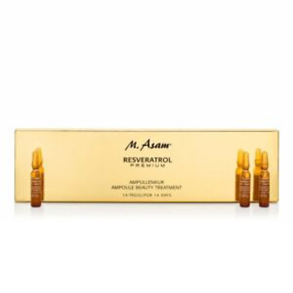M.Asam Resveratrol Premium Ampoule Beauty Treatment - 14 × 2M